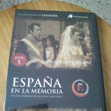 Cine: DVD LA MUJER EN EL TIEMPO DE LA COLECCION ESPAÑA EN LA MEMORIA Nº 5. Lote 35418481