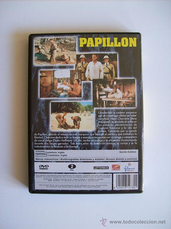 Cine: PAPILLON – STEVE MQUEEN – DUSTIN HOFFMAN ( DVD ) - Foto 2 - 35444404