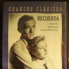 Cine: GRANDES CLASICOS: RECUERDA – DIRIGIDA POR ALFRED HITCHCOCK - FILMAX - PELICULA DVD. Lote 130220059