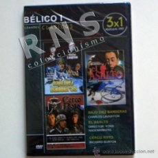Cine: DVD PELÍCULAS BÉLICAS ASALTO CERCO ROTO / BAJO DIEZ BANDERAS PELÍCULA BÉLICA CINE GUERRA MUNDIAL. Lote 35686898