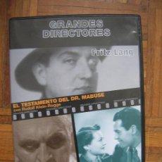 Cine: FRITZ LANG - 2 EN 1 - EL TESTAMENTO DEL DR. MABUSE + SÓLO SE VIVE UNA VEZ HENRY FONDA. Lote 35773328
