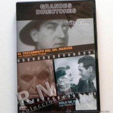 Cine: FRITZ LANG EL TESTAMENTO DEL DR MABUSE SÓLO SE VIVE UNA VEZ PELÍCULA DVD GRANDES DIRECTORES CINE GD. Lote 35813040