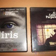 Cine: LOTE DE 2 DVD´S: IRIS Y EL COLOR PÚRPURA. Lote 36820684