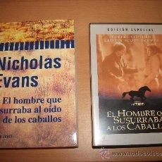 Cine: LOTE DE DVD + LIBRO: EL HOMBRE QUE SUSURRABA AL OÍDO DE LOS CABALLOS. Lote 36820788