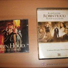 Cine: LOTE DE DVD + CD BSO: ROBIN HOOD EL PRINCIPE DE LOS LADRONES. Lote 36820912