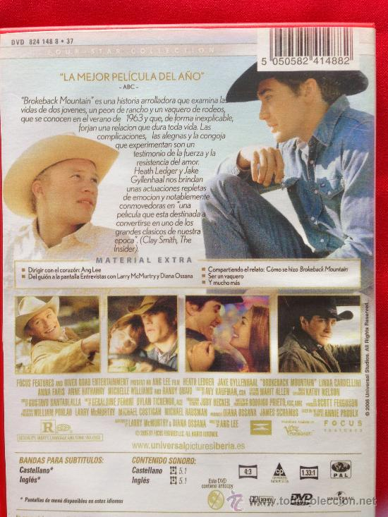 Cine: DVD PELICULA BROKEBACK MOUNTAIN - Foto 2 - 36958045