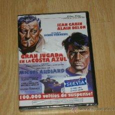 Cine: GRAN JUGADA EN LA COSTA AZUL DVD ALAIN DELON JEAN CABIN NUEVA PRECINTADA. Lote 126070384