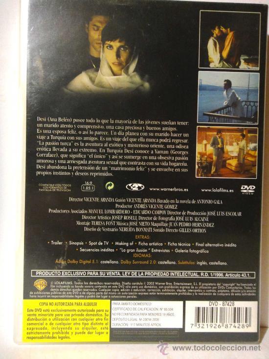 Cine: LA PASION TURCA PELICULA DVD ANA BELEN LA DE FORTUNATA Y JACINTA DRAMA EROTICO EDICION - Foto 2 - 262483535