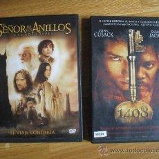 Cine: DVD EL SEÑOR DE LOS ANILLOS Y HABITACION 1408. Lote 37184385