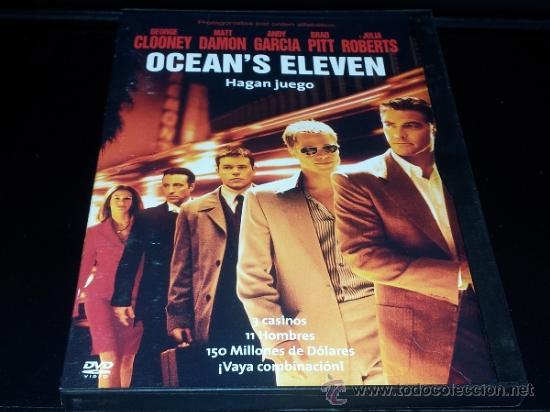 OCEANS OCEAN'S ELEVEN HAGAN JUEGO CLOONEY DAMON GARCIA PITT ROBERTS DVD CAJA CARTON COMO NUEVO BA2 (Cine - Películas - DVD)