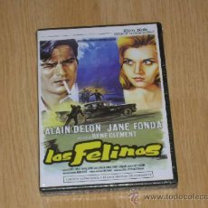 Cine: LOS FELINOS DVD ALAIN DELON JANE FONDA NUEVA PRECINTADA. Lote 245426215