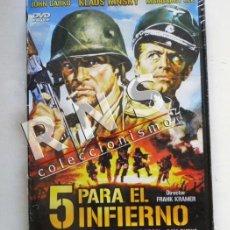 Cine: 5 PARA EL INFIERNO - KLAUS KINSKI - DVD PRECINTADO - PELÍCULA BÉLICA II GUERRA MUNDIAL CINE +18. Lote 37496577