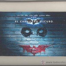 Cine: DVD EL CABALLERO OSCURO-EDICION ESPECIAL 2 DISCOS+6 FOTOS. FORMATO APAISADO. NUEVO.. Lote 37597753