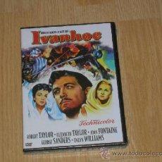 Cine: IVANHOE DVD ROBERT TAYLOR ELIZABETH TAYLOR NUEVA PRECINTADA. Lote 180924838