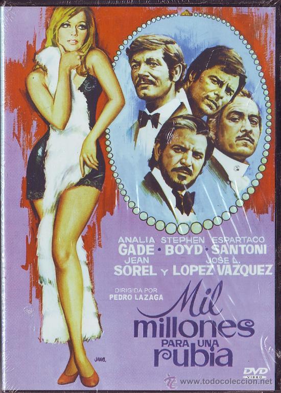 UXD MIL MILLONES PARA UNA RUBIA DVD CINE ESPAÑOL LAZAGA LOPEZ VAZQUEZ GADE SANTONI SOREL COMEDIA (Cine - Películas - DVD)