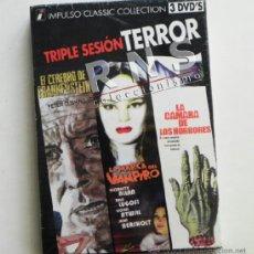Cine: DVD 3 PELÍCULAS TERROR LA MARCA DEL VAMPIRO CÁMARA DE LOS HORRORES EL CEREBRO FRANKENSTEIN PELÍCULA. Lote 39173151