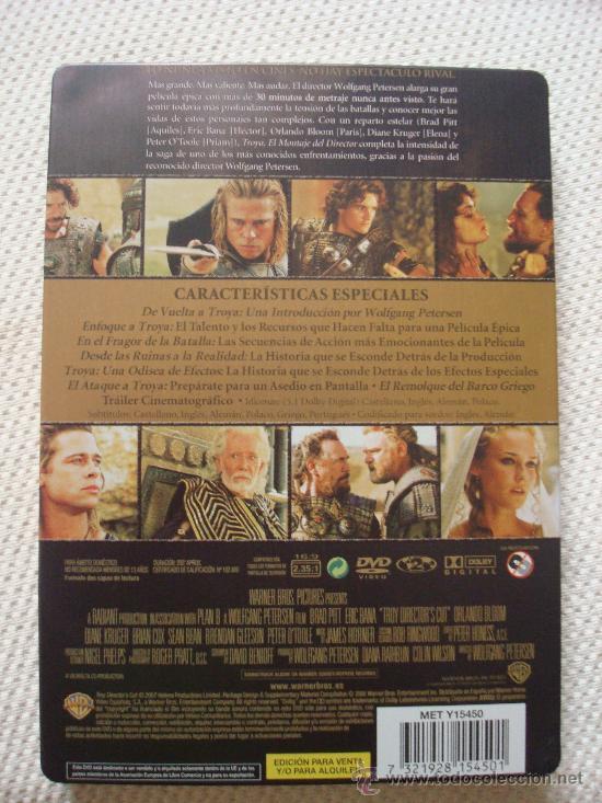Cine: TROYA. EL MONTAJE DEL DIRECTOR. DVD EDICIÓN METÁLICA - Foto 2 - 39241227