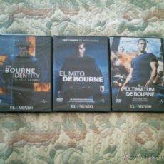 Cine: DVD LOTE TRILOGIA DE BOURNE, CON MATT DAMON (PRECINTADAS). Lote 39456976