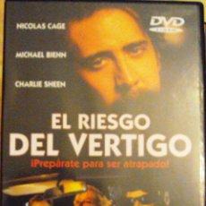 Cine: DVD PELICULA EL RIESGO DEL VERTIGO. Lote 39499181