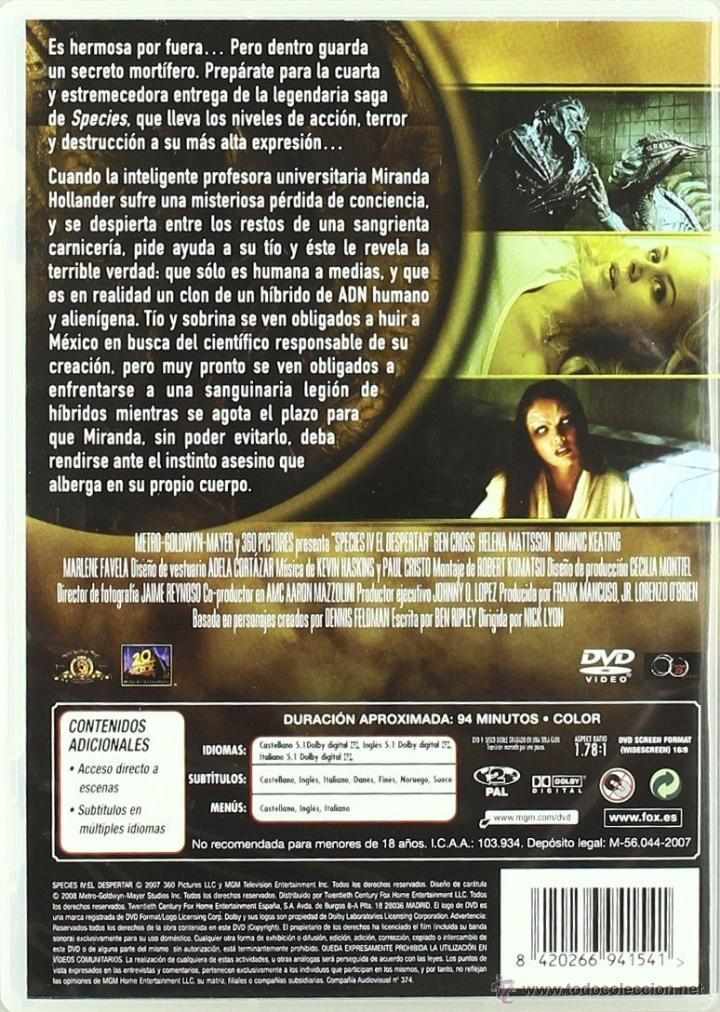 Cine: DVD SPECIES IV EL DESPERTAR - Foto 2 - 39746774