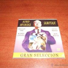 Cine: CINE GRAN SELECCIÓN EN DVD, ALFRED HITCHCOCK: SABOTAJE. Lote 39765977