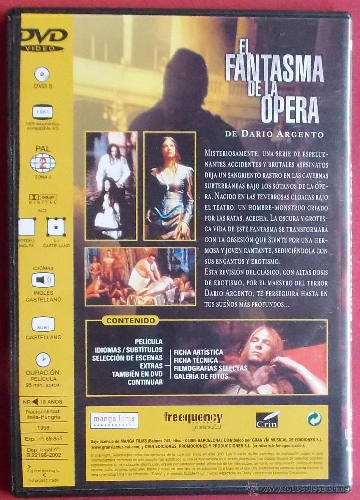 Cine: EL FANTASMA DE LA OPERA - DARIO ARGENTO - Foto 3 - 40072267
