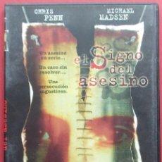 Cine: EL SIGNO DEL ASESINO - CHRIS PENN - MICHAEL MADSEN. Lote 40292006