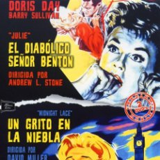 Cine: EL DIABOLICO SEÑOR BENTON Y UN GRITO EN LA NIEBLA (PACK 2 DVDS PRECINTADO NOVEDAD) DORIS DAY. Lote 122825302