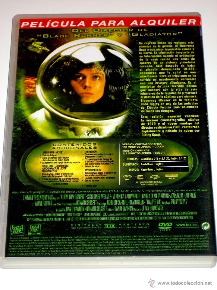 Cine: Alien El Octavo Pasajero DVD Ed. Especial 2 Discos Montaje Original + Montaje Director - Foto 2 - 40933454