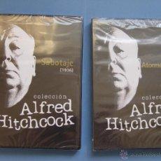 Cine: LOTE 2 DVD: ALFRED HITCHCOCK (SABOTAJE Y ATORMENTADA) LAYONS ¡ORIGINALES!. Lote 40936688