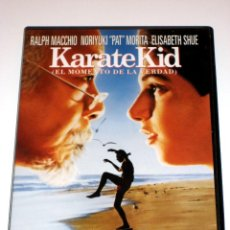 Cine: KARATE KID (EL MOMENTO DE LA VERDAD) - JOHN G. AVILDSEN PAT MORITA RALPH MACCHIO DVD 1ª EDICION. Lote 40964797