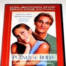 Cine: PLANES DE BODA - JENNIFER LOPEZ MATTHEW MCCONAUGHEY DVD. Lote 40971184