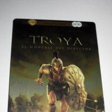 Cine: TROYA (EL MONTAJE DEL DIRECTOR) ED. LIMITADA 2 DISCOS CAJA METALICA DVD DESCATALOGADA. Lote 69726041