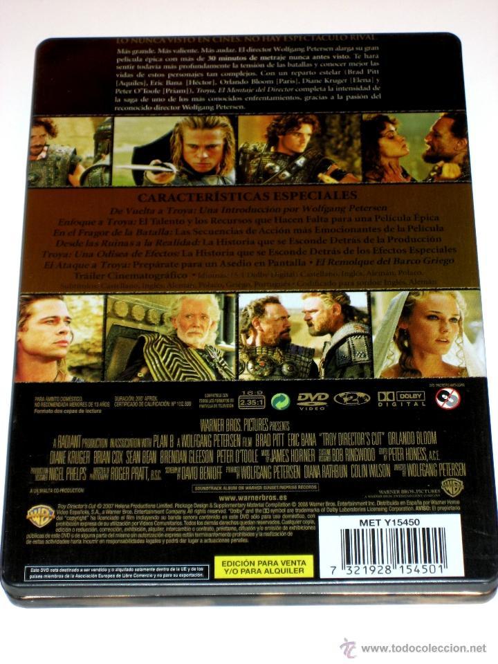 Cine: Troya (El Montaje Del Director) Ed. Limitada 2 Discos Caja Metalica DVD Descatalogada - Foto 2 - 69726041