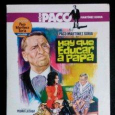 Cine: HAY QUE EDUCAR A PAPÁ - PACO MARTÍNEZ SORIA - DVD. Lote 41012935