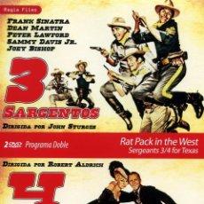 Cine: 3 SARGENTOS Y 4 TIOS DE TEXAS (PACK 2 DVDS PRECINTADO NOVEDAD) FRANK SINATRA - DEAN MARTIN . Lote 41049745