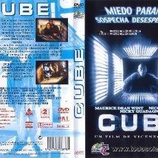 Cine: DVD ORIGINAL * CUBE * (1ª EDICIÓN). DESCATALOGADO. PRECINTADO.. Lote 26270850