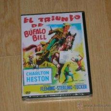 Cinema: EL TRIUNFO DE BUFALO BILL DVD CHARLTON HESTON NUEVA PRECINTADA. Lote 221868901