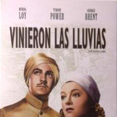 Cine: VINIERON LAS LLUVIAS-MYRNA LOY-TYRONE POWER-GEORGE BRENT-CLARENCE BROWN-1 OSCAR EN 1939. Lote 41770685