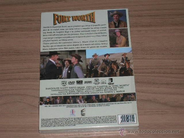 Cine: FORT WORTH DVD Randolph Scott NUEVA PRECINTADA - Foto 2 - 253416980