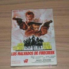 Cine: LOS MALVADOS DE FIRECREEK DVD JAMES STEWART HENRY FONDA NUEVA PRECINTDA. Lote 98727282