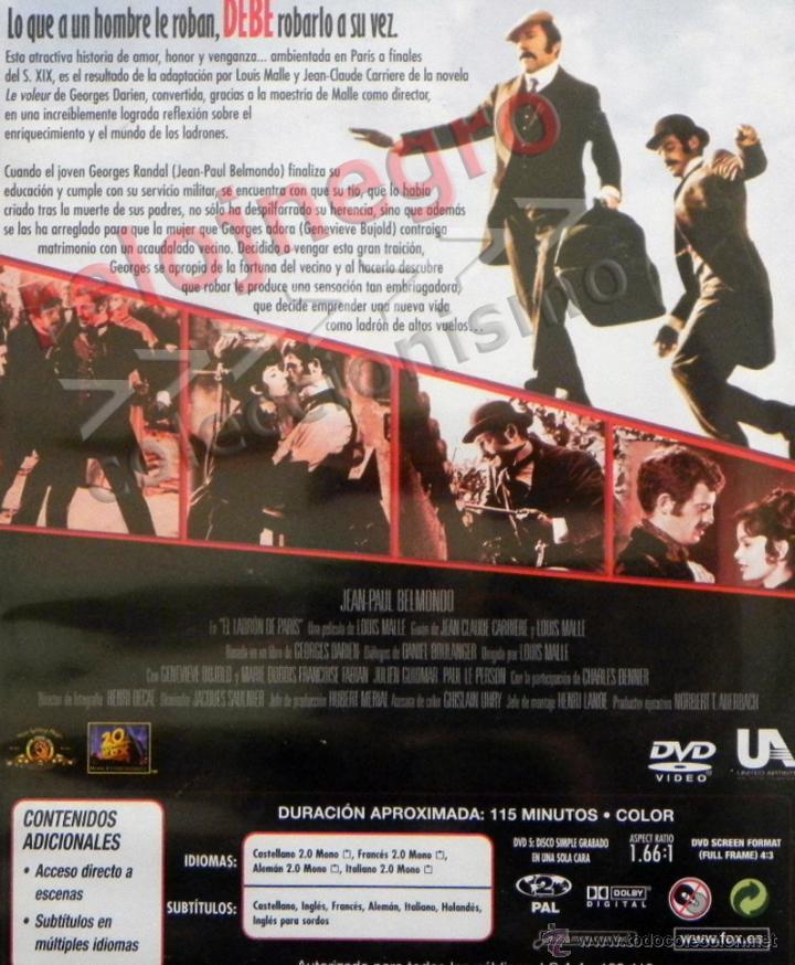 el ladrón de parís - dvd película suspense - je - Comprar Películas ...