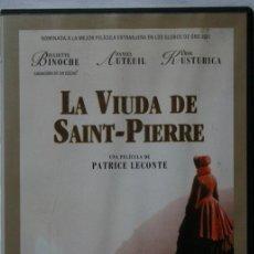 Cine: LA VIUDA DE SAINT PIERRE - PATRICE LECONTE - JULIETTE BINOCHE - DANIEL AUTEUIL - EMIR KUSTURICA -DVD. Lote 42493218