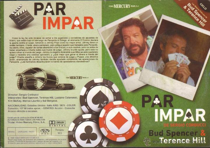 CINE GOYO - DVD - PAR IMPAR - CICLO BUD SPENCER & TERENCE HILL *BB99 (Cine - Películas - DVD)