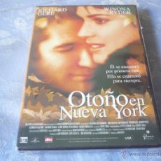 Cine: OTOÑO EN NUEVA YORK ( RICHARD GERE WINONO RYDER ) DVD NUEVA ¡PRECINTADA! DRAMA ROMANTICA. Lote 42824147