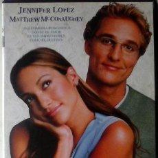 Cine: DVD PLANES DE BODA JENNIFER LÓPEZ - MATTHEW MCCONAUGHEY. Lote 42946436