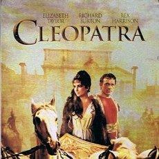Cine: DVD CLEOPATRA ELIZABETH TAYLOR RICHARD BURTON (ESTUCHE DE METAL). Lote 43024747