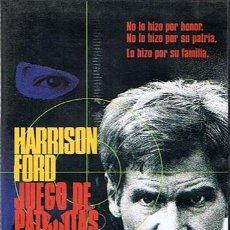 Cine: DVD JUEGO DE PATRIOTAS HARRISON FORD . Lote 43358249