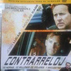 Cine: DVD - CONTRARRELOJ ** NICOLAS CAGE, JOSH LUCAS,** DEL DIRECTOR DE LOS MERCENARIOS 2 Y CON AIR*******. Lote 43484136