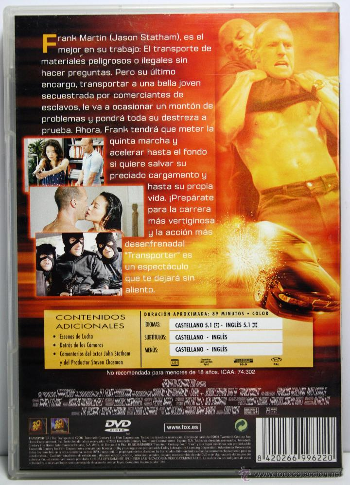 Dvd Transporter Jason Statham Shu Qi Comprar Películas En Dvd